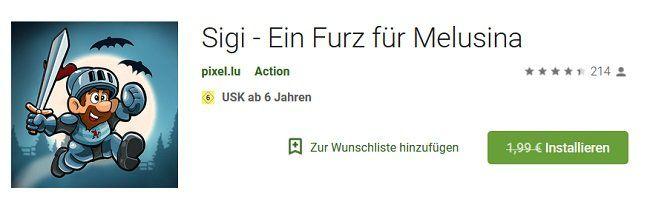 Für iOS und Android: Sigi Ein Furz für Melusina kostenlos statt 1,99€