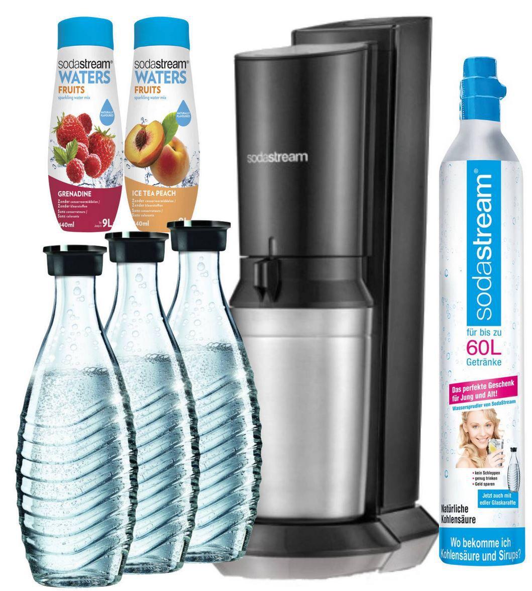 Sodastream Crystal 2.0 Wassersprudler mit 3 Glaskaraffen + 1 Zylinder für 111€ (statt 160€)