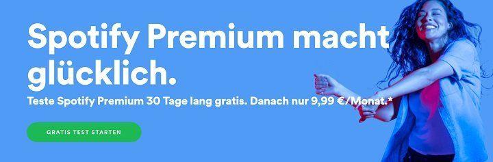 30 Tage Spotify Premium für Neukunden gratis