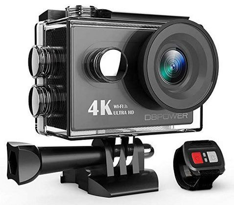 DBPOWER DB0918   4K Action Cam mit WLAN & Funkauslöser für 30,09€ (statt 43€)