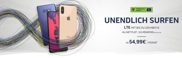 Knaller! Top Smartphones ab 4,95€ + O2 AllNet & SMS Flat + unendlich max. LTE ab 54,99€