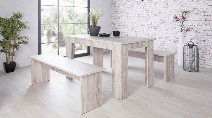Tischgruppe München mit 2 Bänken in vielen Designs ab je 79,99€ (statt 100€)