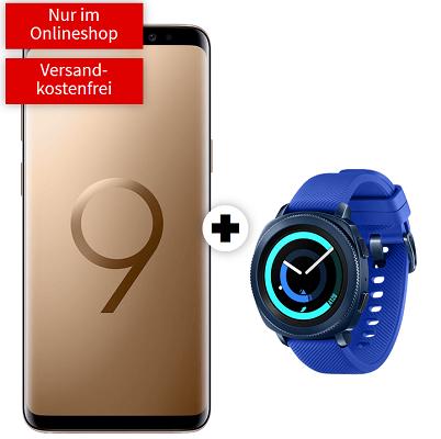 Knaller! Samsung Galaxy S9 + Gear Sport für 29€ + Telekom Allnet Flat mit 1GB für 21,99€ mtl.