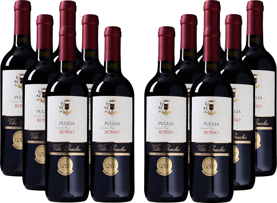 12er Paket Villa Gracchio   Rosso   Puglia IGT für 49,92€ (statt 144€)