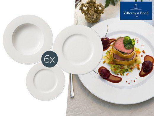 18 tlg. Villeroy & Boch Porzellangeschirrset Twist White für 75,90€