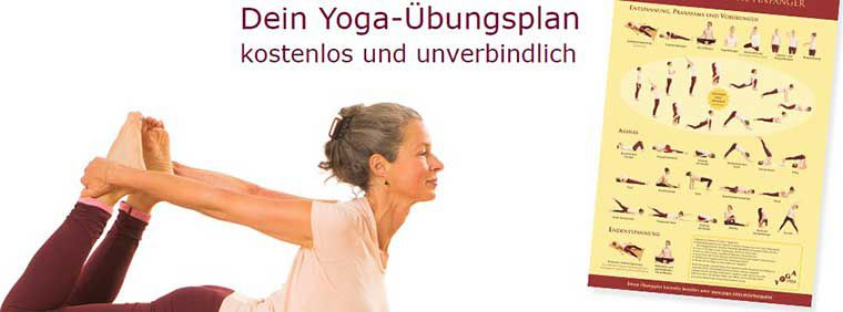 Yoga Übungsplan (A3) gratis erhältlich