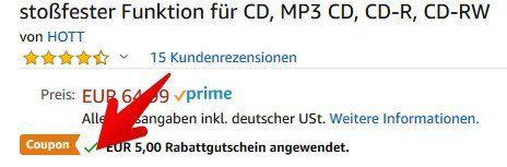 Tragbarer CD Player (Discman) inkl. Kopfhörer für 30,74€ (statt 65€)