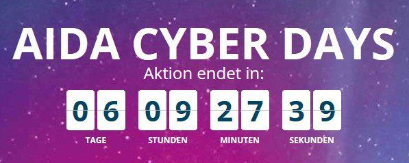 AIDA Cyber Days: Angebote bereits ab 499€ p.P. inkl. Flug