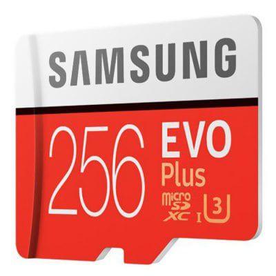 Samsung EVO Plus   UHS 3 256GB Micro SDXC Class 10 für 49€ (statt 68€)