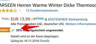 Thermosocken mit Vollplüsch für 2,80€   Prime