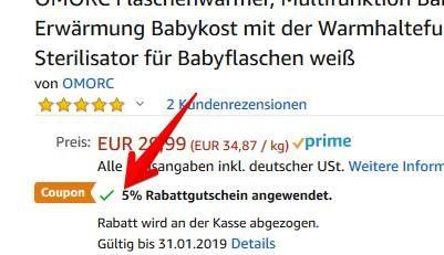 Omorc Babyflaschenwärmer (500W) für 20,09€ (statt 30€)