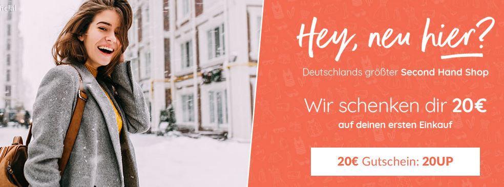 20€ Ubup Neukunden Gutschein (40€ MBW)   günstige Second Hand Fashion