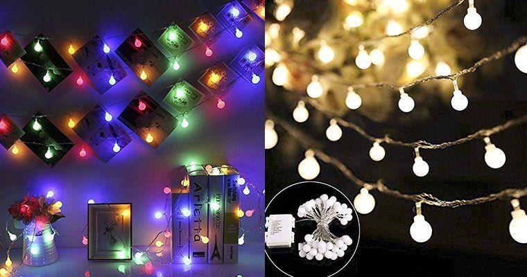 Lichterkette mit 40 LEDs oder 100 LEDs in Glühbirnenform (bunt oder warmweiß) ab 5,49€ (statt 11€)   Prime