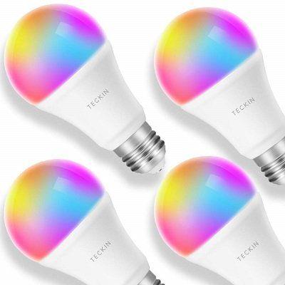 4er Set Teckin Smart RGB LED Birnen für 36,78€ (statt 57€)