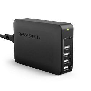 RAVPower (RP PC059) 5 Port Ladeadapter (4 x USB + 1 x Power Delivery) mit iSmart Technologie für 19,99€ (statt 27€)