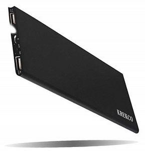 KREKCO Powerbank mit 12.000 mAh und 2 USB Ports für 8,80€ (statt 22€)