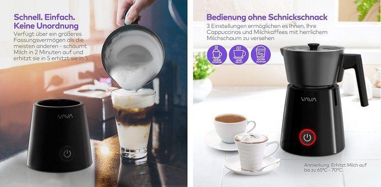 VAVA Milchaufschäumer für 24,99€ (statt 50€)