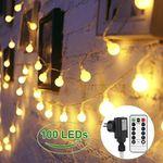 Lichterkette mit 40 LEDs oder 100 LEDs in Glühbirnenform (bunt oder warmweiß) ab 5,49€ (statt 11€) – Prime