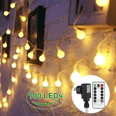 Lichterkette mit 40 LEDs oder 100 LEDs in Glühbirnenform (bunt oder warmweiß) ab 4,20€ (statt 10€)
