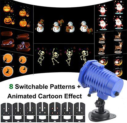 LED Projektor mit 8 einstellbaren & animiertem Motiven für 13,49€   Prime