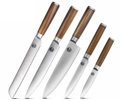 T.G.Y Messer Set 5 teiliges Edelstahl Küchenmesser Set für 17,39€ (statt 29€)