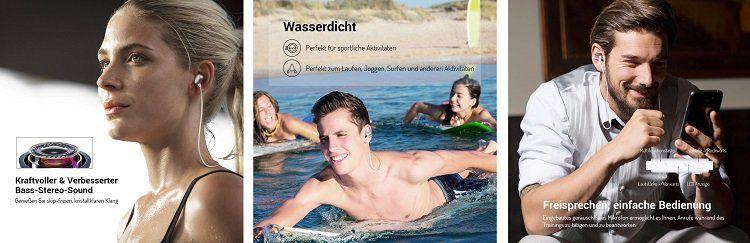 EKSA Bluetooth Kopfhörer mit Headset Funktion für 9,49€ (statt 19€)