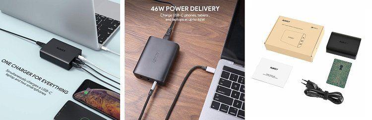 Aukey Ladegerät (PA Y13) mit 2 Ports + 45W Power Delivery für 39,99€ (statt 60€)