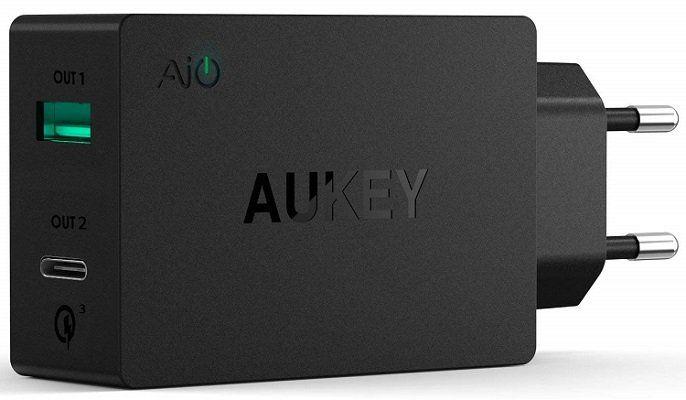 AUKEY Ladegerät (PA Y2) mit 2 Ports (USB A + USB C) für 5,99€ (statt 20€)