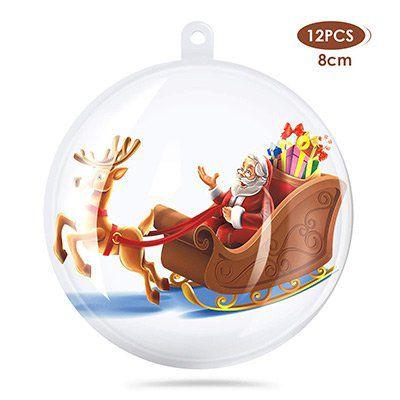 12 klare Weihnachtskugeln (Ø8cm) zum Selberbefüllen für 5,99€   Prime