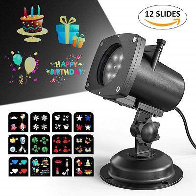 LED Projektor mit 12 unterschiedlichen Motiven für 13€ (statt 40€)