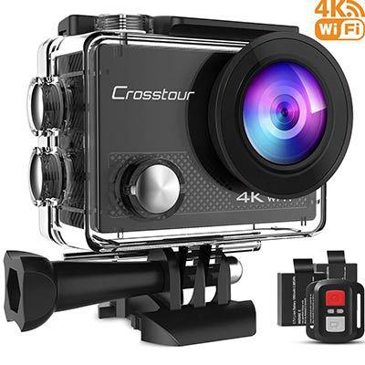 Crosstour CT9000 – 4K ActionCam mit 170° Weitwinkel & inkl. Fernbedienung & Zubehör für 41,99€ (statt 60€)