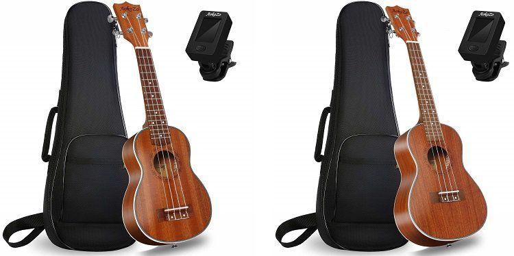 Ukulele (Sopran oder Konzert) mit Tasche und Tuner für 31,19€ (statt 52€)