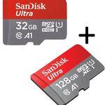 SANDISK Ultra UHS-I Micro-SDXC-Speicherkarte mit 128GB + 32GB ab 22€ (statt 36€)