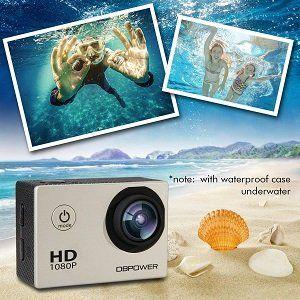 DBPOWER SJ4000 wasserdichte Actioncamera mit 1080p für 19,49€ (statt 30€)