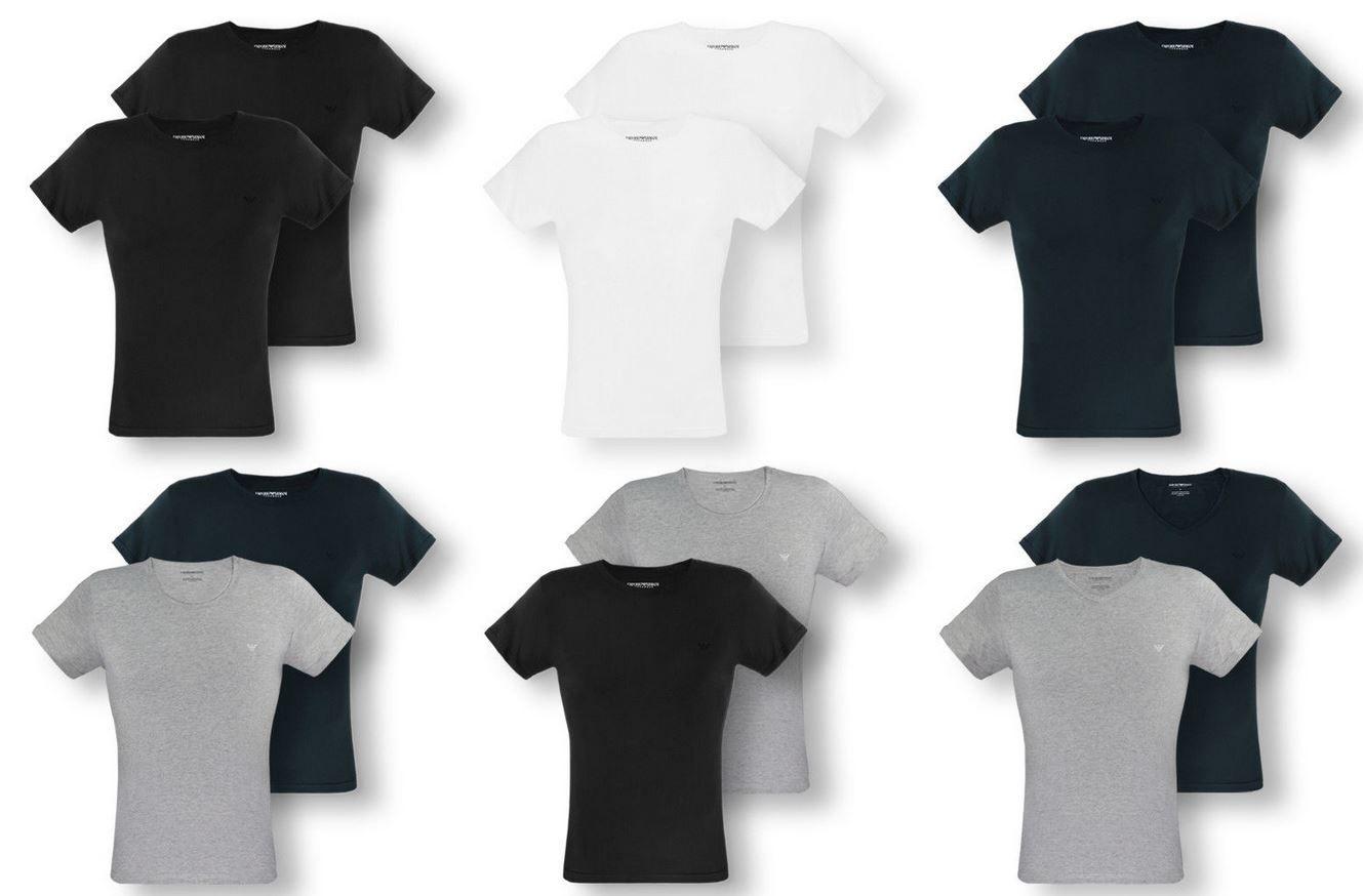 EMPORIO ARMANI   Doppelpack Herren T Shirts bis XL div. Modelle für je 34,99€