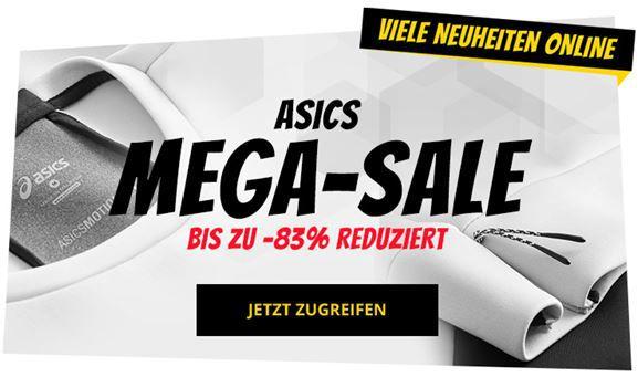 Asics Sale bei SportSpar   z.B. Asics Essential Herren Trainingsshirt ab 4,99€(statt 12€)