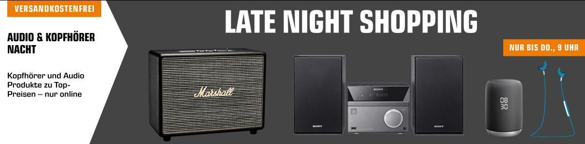 Saturn Late Night Audio & Kopfhörer Nacht: z.B.  JBL Inspire 500, In ear für 27€ (statt 45€)