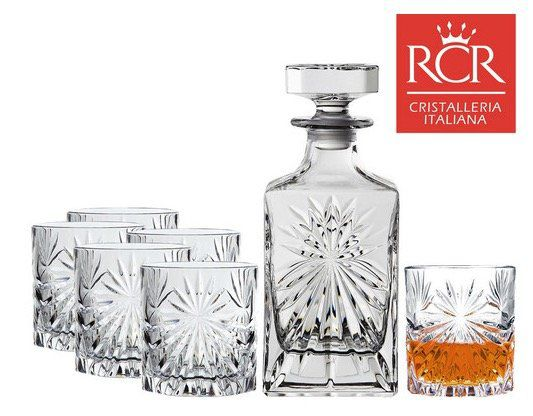 6er Set RCR Oasis Whiskeygläser + Dekanter für 35,90€ (statt 45€)