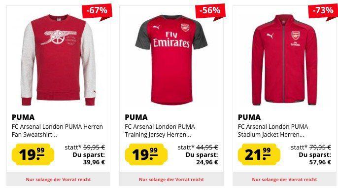 FC Arsenal London Sale bei SportSpar   z.B. Stadion Jacke für 21,99€