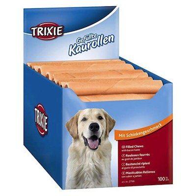 100er Pack Trixie gefüllte Hunde Kaurollen mit Schinkengeschmack für 11,55€ (statt 42€)