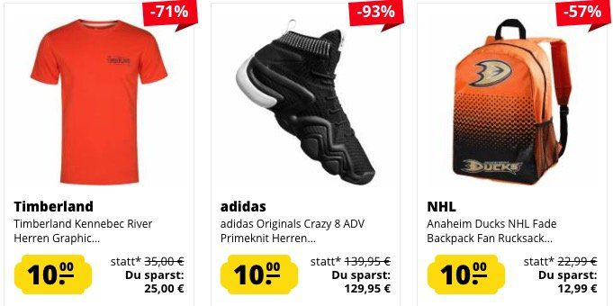 🔥 Knaller! SportSpar 10€ Sale mit über 300 Artikeln   jeder Artikel nur 10€ zzgl. VSK