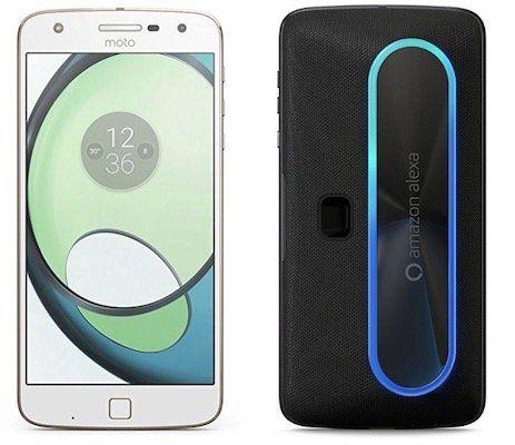 Motorola Moto Z Play Smartphone + Alexa Mod Lautsprecher Back Cover für 188€ (statt 329€)