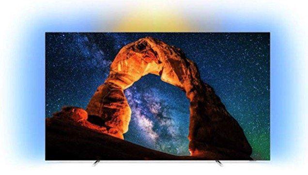 Philips 55OLED803   55 Zoll OLED Fernseher mit 3 fachem Ambilight für 1.005,23€ (statt 1.199€)