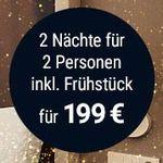 Hilton Hotelgutschein (2 Personen, 2 Nächte) inkl. Frühstück für 199€