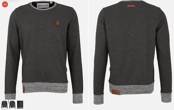 Naketano Herren Sweatshirt Geschichtenerzähler für 33,92€ (statt 47€)   nur S, M und L