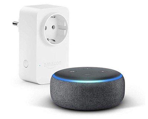 Amazon Echo Dot (3. Gen.) + Smart Plug (WLAN Steckdose) für 35€ (statt 54€)