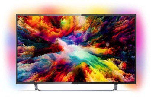 Philips PUS7383   50 Zoll UHD Fernseher mit HDR+ und 3 seitigem Ambilight für 455€ (statt 519€)