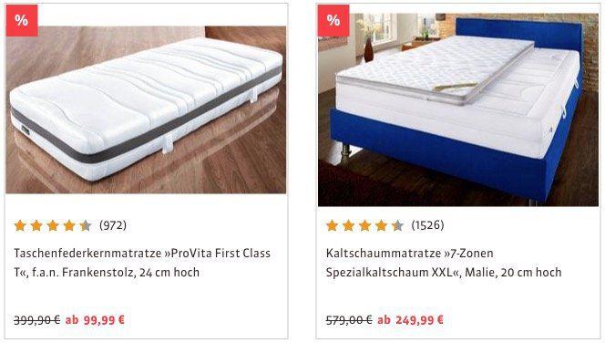 Schlafwelt mit 20% Rabatt auf ALLES (auch im Sale)   z.B. Taschenfederkernmatratze 1000 Pur in H2 für 207,99€(statt 240€)