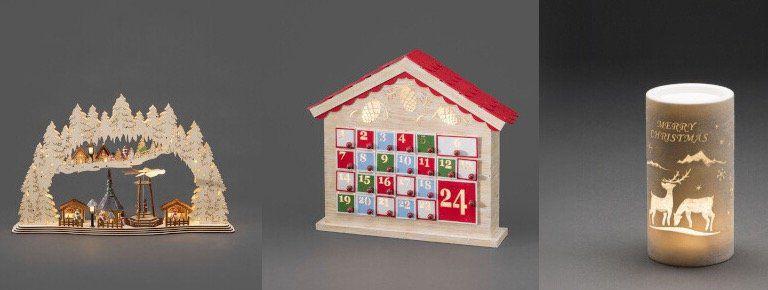 Leuchtende Weihnachtsdeko und Lichterketten bei vente privee   z.B. LED Holzadventskalender für 40,99€ (statt 65€)
