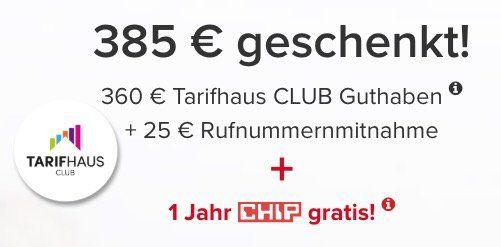 Vodafone Allnet Flat mit 10GB LTE für 35€ mtl. + bis zu 385€ Cashback + 1 Jahr CHIP Abo gratis